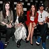 Michelle Trachtenberg, Cameron Richardson, Sophia Bush and actor Chris Pine attend the Rebecca Minkoff Spring 2012 show.