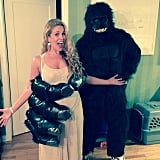 Donald Faison and CaCee Cobb donned King Kong and Ann Darrow costumes.