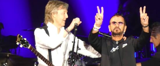 Paul McCartney and Ringo Starr at Dodger Stadium Video