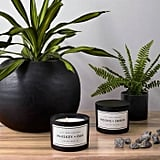 Woods + Smoke Matte Glass Jar 3-Wick Candle