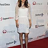 Natalie Portman in a Little White Dress at the 2011 FINCA Celebration