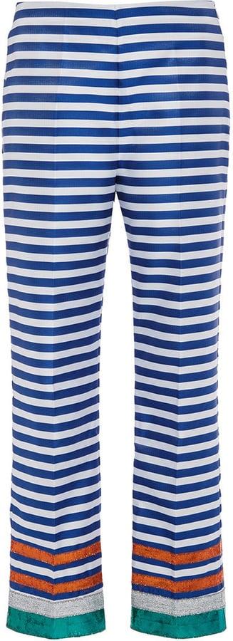 Clover Canyon Striped Metallic Hemmed Pants ($270)