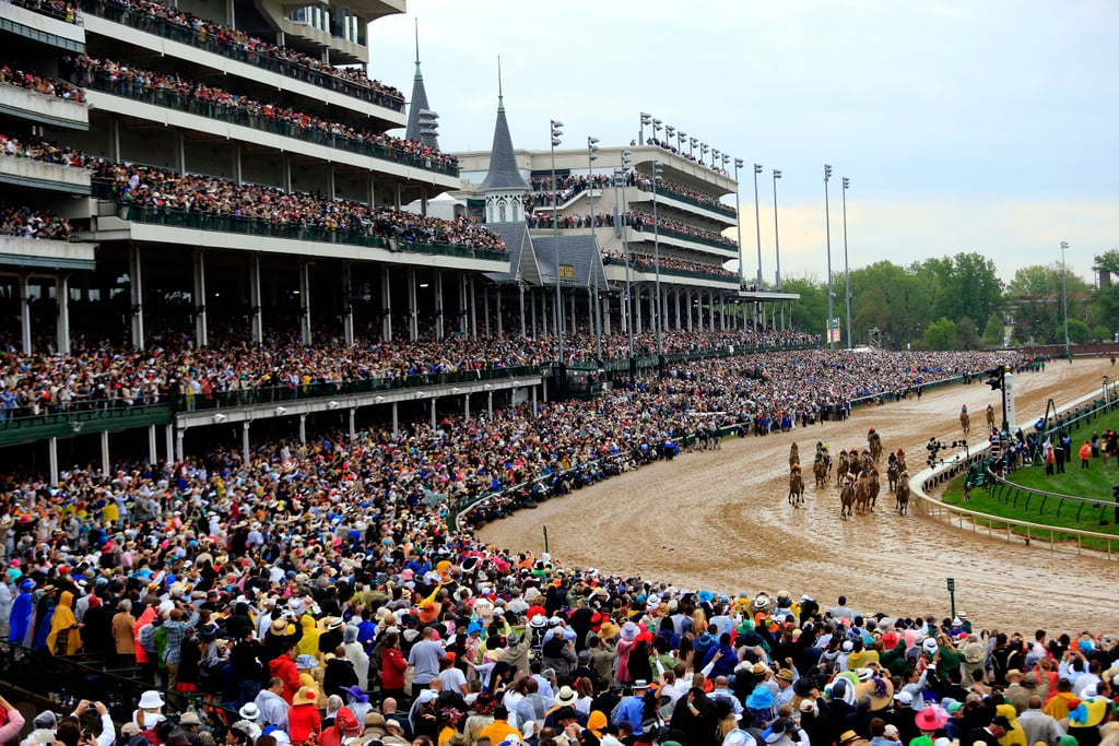It was overcast, and the track was muddy, but that didn't deter fans or the horses.