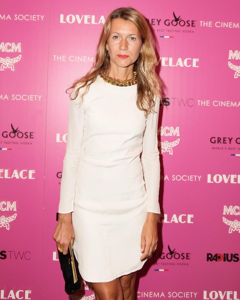 At the Lovelace screening, Natalie Joos was seasonal in an LWD.