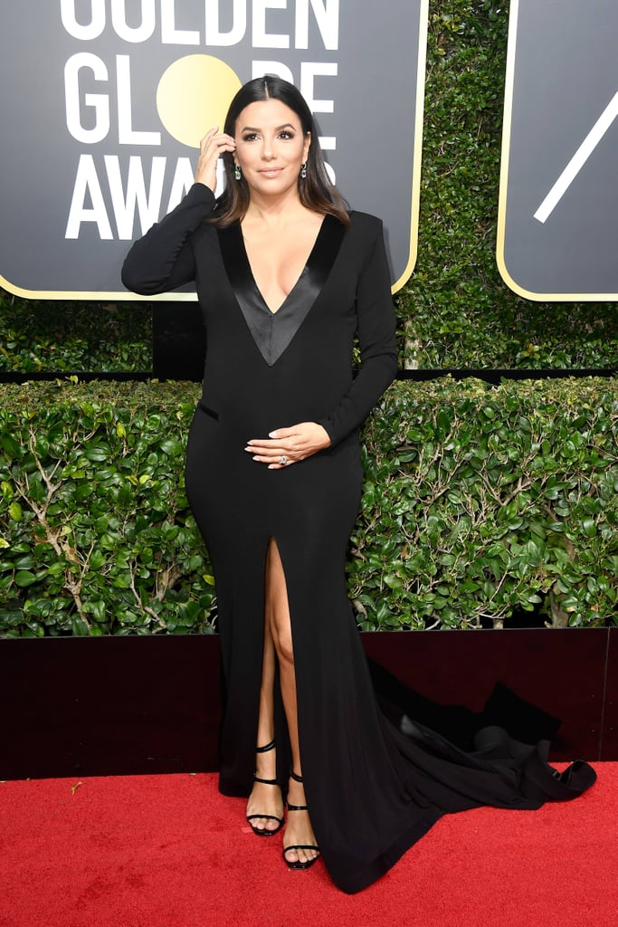 Women Wearing Plunging Necklines Golden Globes 2018