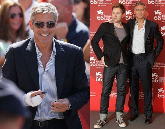 Photos of George Clooney and Ewan McGregor in Venice