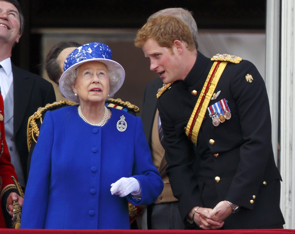 Image result for queen elizabeth and prince harry