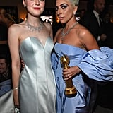 Pictured: Dakota Fanning and Lady Gaga
