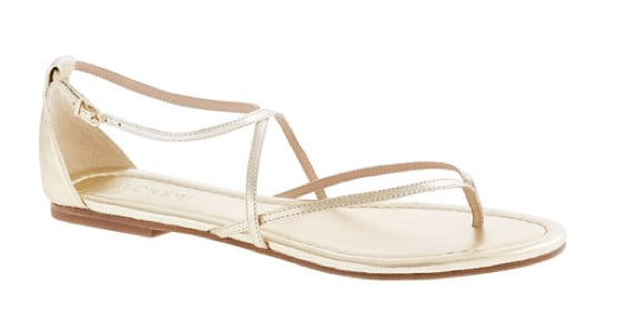 A simple strappy flat sandal will go with everything, from more traditional work outfits to the ultrasummery dresses you plan on wearing on more casual occasions. J.Crew Audra Sandals ($98)