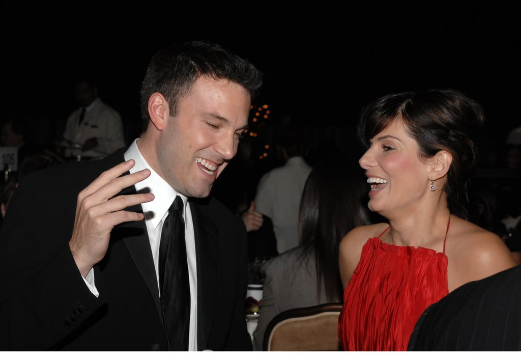 Ben Affleck and Sandra Bullock shared a laugh at the October 2006 Hollywood Film Festival.