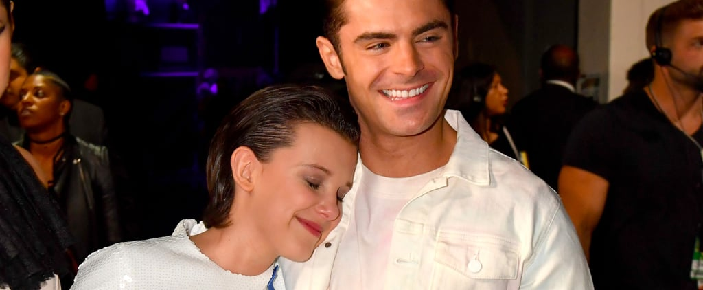Millie Bobby Brown, Smart Girl, Hugs Zac Efron at the MTV Awards