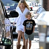 Kate Hudson and Ryder Robinson grabbed a bite to eat in LA.