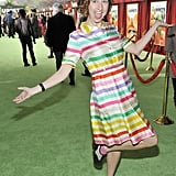 Kristen Schaal wore a playful dress for the screening.