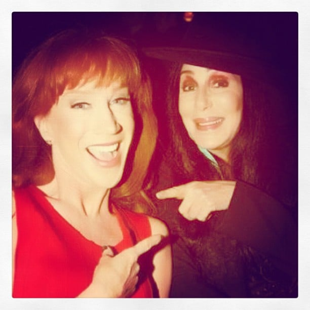 Kathy Griffin hung out with her longtime pal Cher. Source: Instagram user kathygriffin