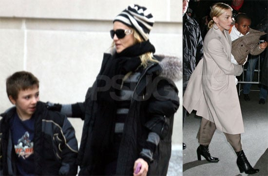 Photos of Madonna, Rocco Ritchie, David Banda Ritchie, Lourdes Leon in NYC After Her Preliminary Divorce