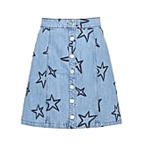Etre Cécile Star-Embroidered Denim Miniskirt
