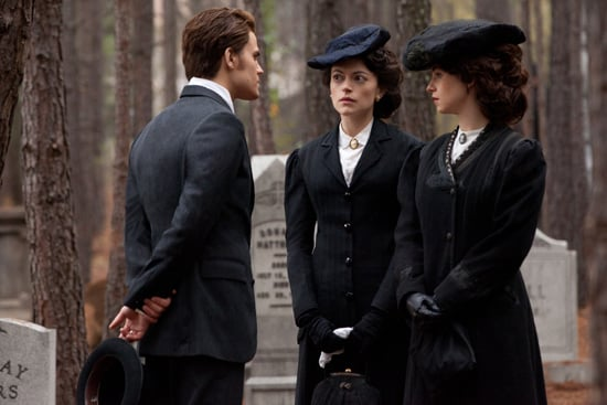 Paul Wesley as Stefan, Hannah Fierman as Marianna, and Lindsey R. Garrett as Samantha in The Vampire Diaries. Photo courtesy of The CW
