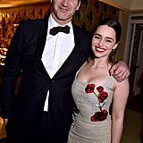 David Benioff hung out with Emilia Clarke at the HBO afterparty.