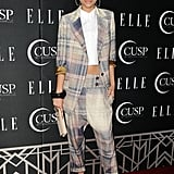 From the oversize fit, to the plaid print, to the fedora, Zendaya's menswear-inspired look was an inspired choice.