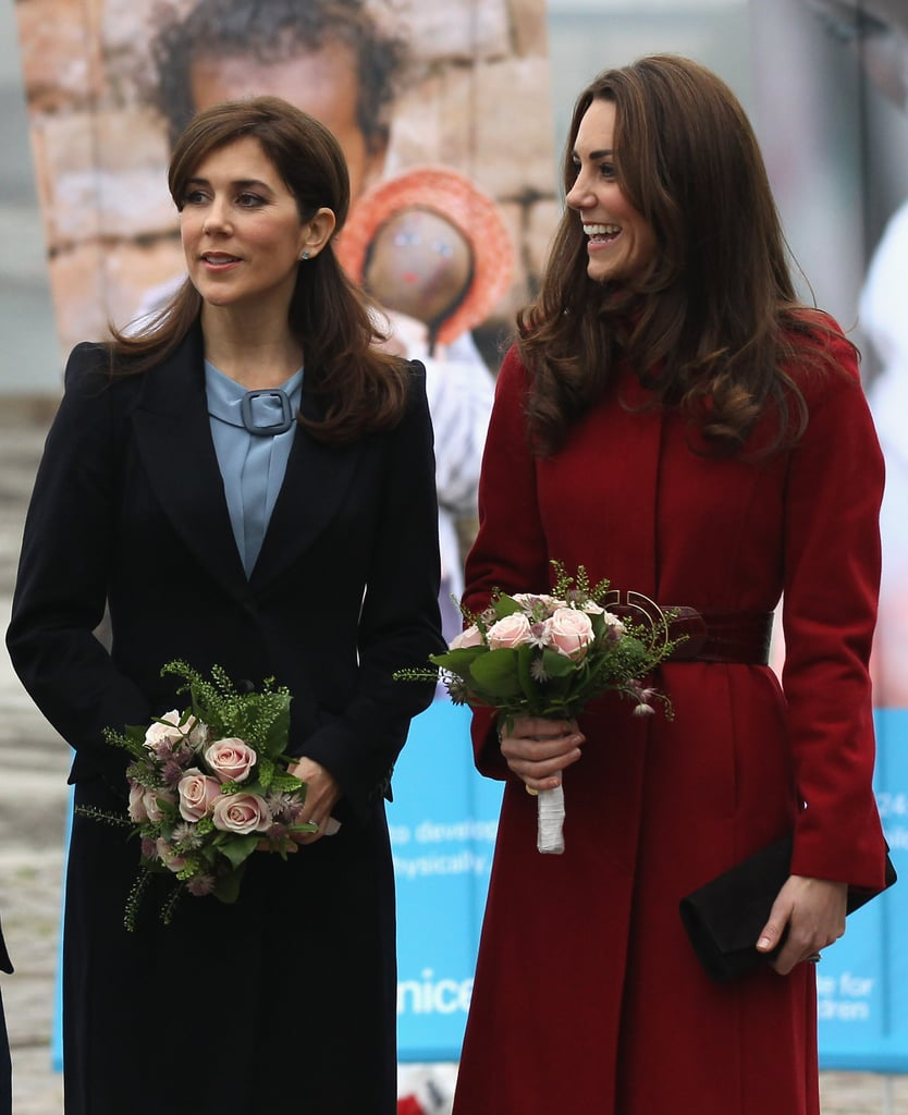 November 2011: With Crown Princess Mary of Denmark in Copenhagen