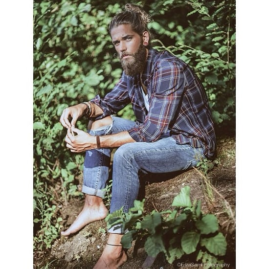 Pictures of Male Lumbersexuals With Beards and Buns