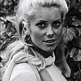 The legendary Catherine Deneuve posed for photos in 1965.