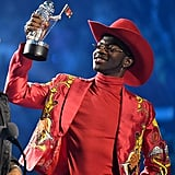 Lil Nas X With His First MTV VMA Award