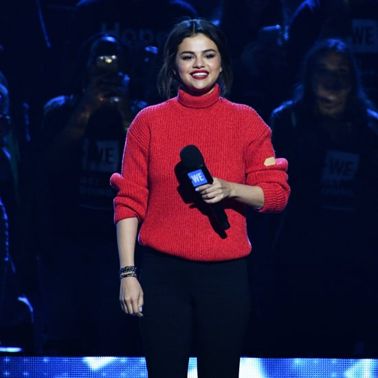 Selena Gomez's Red Sweater on WE Day 2018