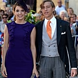 Prince Louis and Princess Tessy of Luxembourg attended the nuptials.