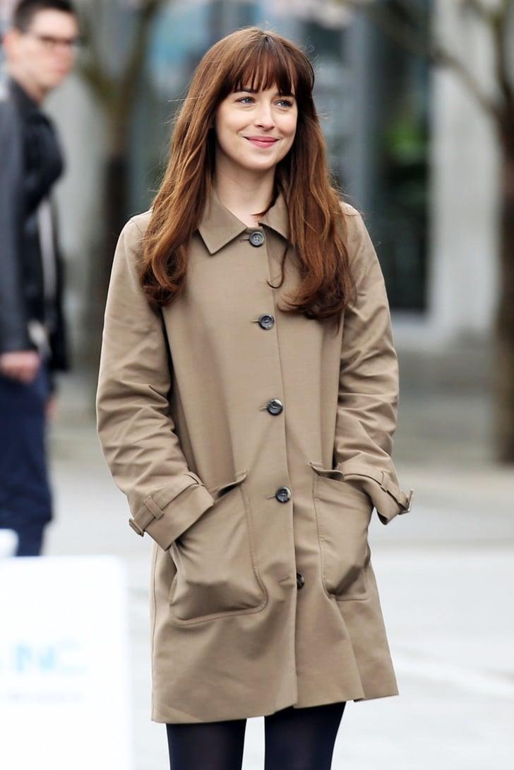 Dakota Johnson Fifty Shades Darker Set Pictures Popsugar Entertainment