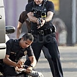 Jake Gyllenhaal and Michael Pena play police officers in End of Watch.
