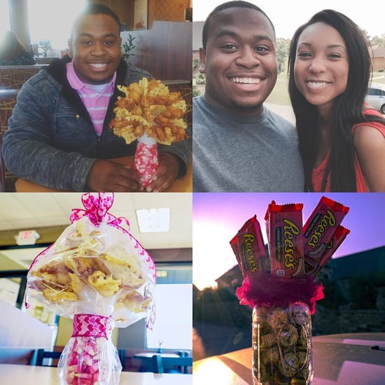 Guy Gives Bouquet of Chicken Nuggets to Girlfriend