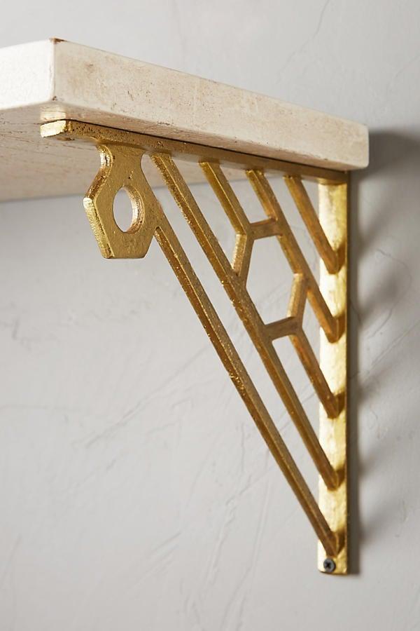 Affordable Gold Bracket Shelves Popsugar Home