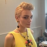 Jessica Stam's bouffant looked gorgeous, care of celebrity stylist Matt Fugate, who was inspired by the punk era.  Source: Instagram user mattshair