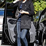 Emily Blunt stepped out of her car in LA.