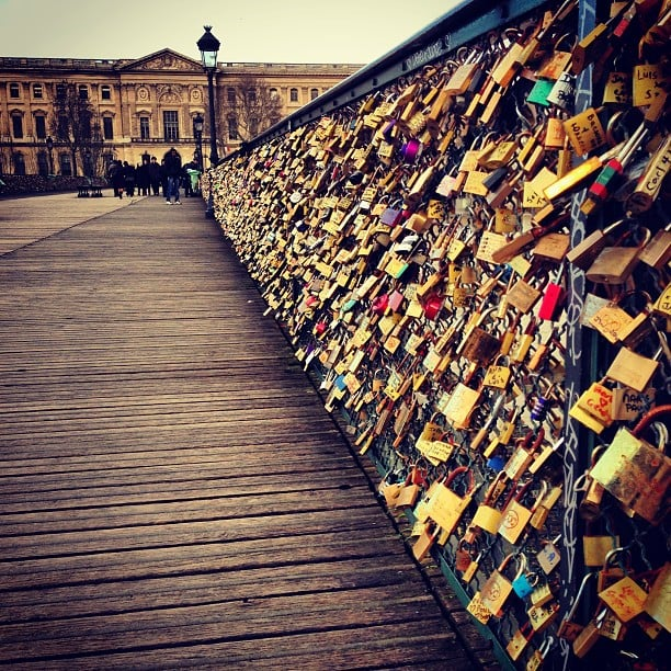 Love lock bridge usa