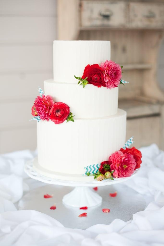 Modern Floral Cake