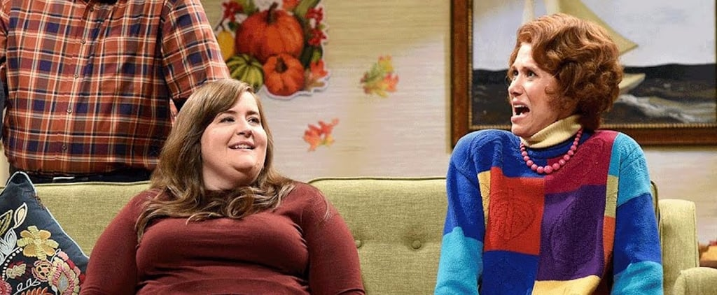 Kristen Wiig Surprised Lady Thanksgiving SNL Skit