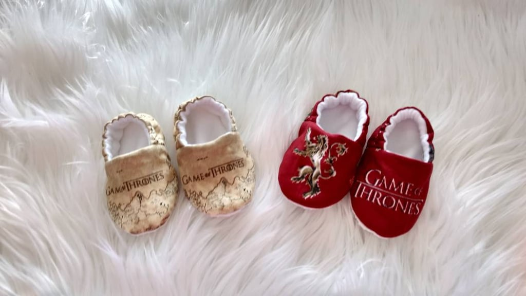 Score your little one his or her very own pair of Game of Thrones Moccasins ($18 and up) because matching mama is always the way to go!