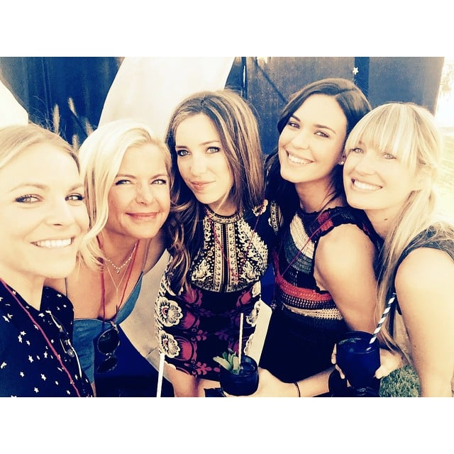 """Ashlee's friend Odette Annable, who is married to actor Dave Annable, posted a cute group photo from the shower, writing, """"Girlfriends make everything better. Celebrating our beautiful friend @ashleesimpsonross w/ @laurenz422 @jeneverhart @clsymonds @heyjengeorge."""""""