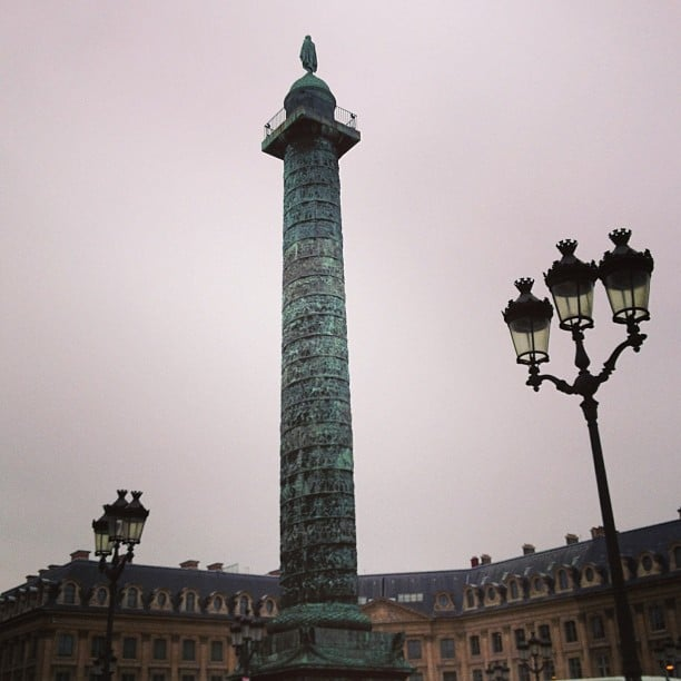 The Place Vendôme is stunning even on the dreariest of days.