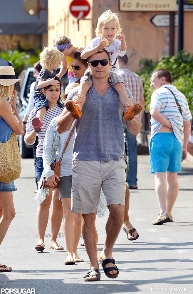 Liev Schreiber gave his son a lift in the South of France.