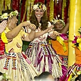 Kate Middleton had fun dancing in Tuvalu.