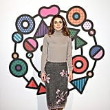 Queen Rania Wore an Embellished Prada Pencil Skirt