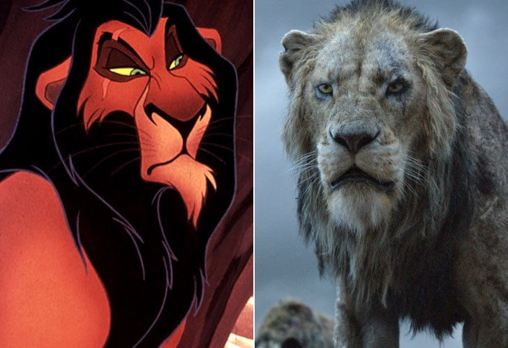 Lion King Cartoon And Live Action Cast Side By Side Photos Popsugar Entertainment