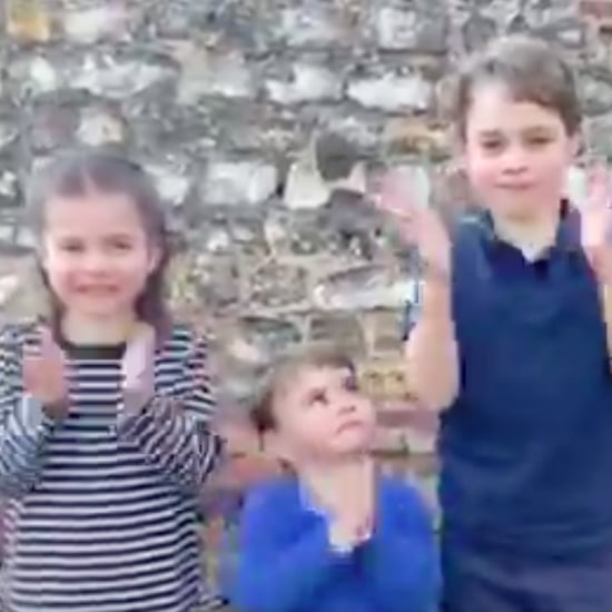 George, Charlotte, and Louis Clap For Coronavirus Volunteers
