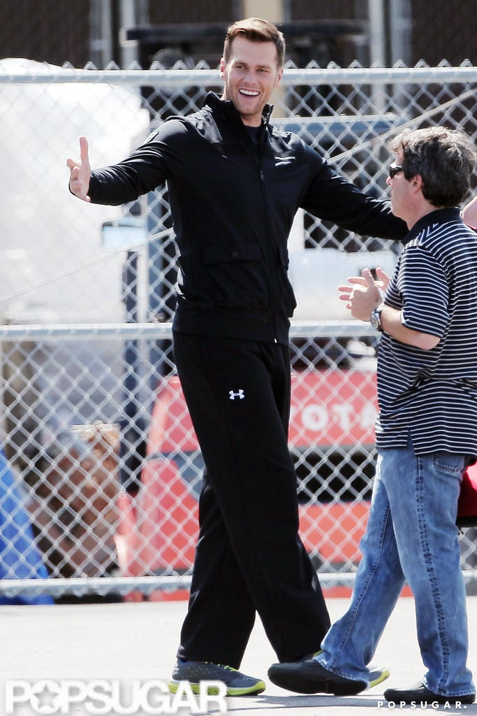 Tom Brady looked ready to give out a hug.