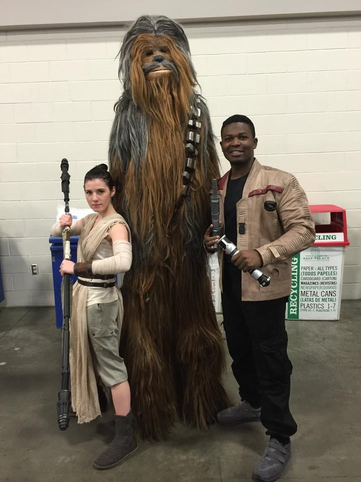 And they found Chewbacca! Where's BB-8?