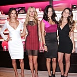 Victoria's Secret Angels Adriana Lima, Alessandra Ambrosio, Lily Aldridge, and Erin Heatherton.