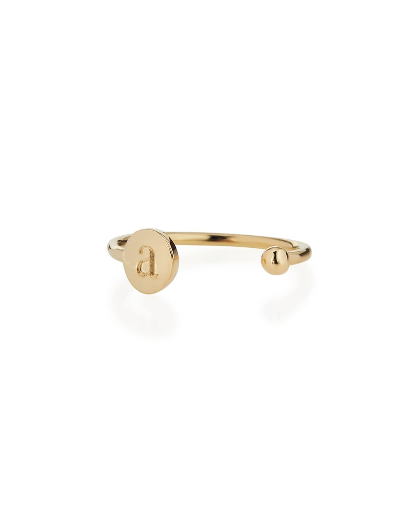 Sarah Chloe Rocha 14k Gold Two-Initial Open Ring